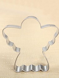 economico -Christmas Theme Angel Shape Cookie Cutter, L 7.4cm x W 7.3cm x H 2cm, Stainless Steel