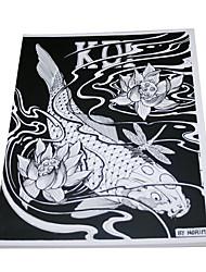 cheap -Tattoo Art Manuscript of Fish