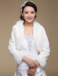cheap -Faux Fur Wedding Party Evening Fur Wraps Wedding  Wraps Coats / Jackets