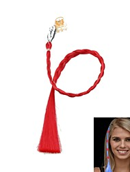 LED-Farbe ändern leuchtende Haargeflecht, für Parteiversammlungen Requisiten (rot)