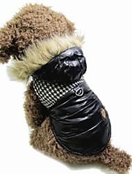 cheap -Cat Dog Coat Hoodie Vest Dog Clothes Color Block Black Brown Cotton Costume For Pets Men's Women's Keep Warm Fashion