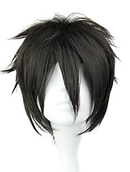 cheap -Cosplay Wigs Sword Art Online Kirito Black Short / Straight Anime Cosplay Wigs 32 CM Heat Resistant Fiber Male