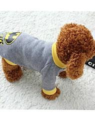 preiswerte -Katze Hund Kostüme T-shirt Hundekleidung Cosplay Cartoon Design Grau Kostüm Für Haustiere