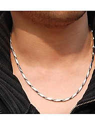 cheap -Stainless Steel Chain Necklace  -  Geometric Silver Necklace For Wedding Party Daily
