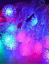 baratos -jiawen® 4m 20leds rgb luzes da corda bola de neve levou luz seqüência de natal para decoração (AC 110-220V)