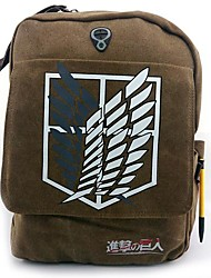 Sac Inspiré par Attack on Titan Cosplay Anime Accessoires de Cosplay Sac / sac à dos Marron Toile / Nylon Masculin