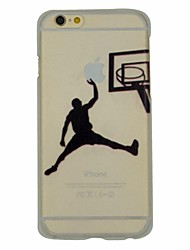 cheap -Basketball Series of Slam Dunk Pattern PC Hard Transparent Back Cover Case for iPhone 6