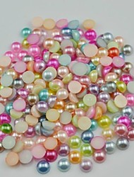 cheap -2000PCS Mixs Color Flatback Semicircle Pearl Gems 3mm Handmade DIY Craft Material/Clothing Accessories