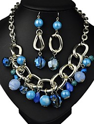 Women's Fashion Overstate Jewelry Set: Necklace & Earrings(More Colors)