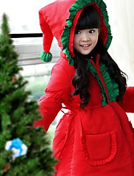 cheap -Santa Suit Cosplay Costume Kid's Christmas Festival / Holiday Halloween Costumes Solid Colored