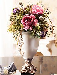 """22 """"h luksuriøse pæoner i Polyresin vase arrangement"""