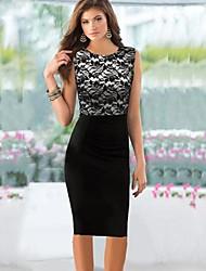 cheap -Women's Dress Knee-length Sleeveless Black Summer / Fall
