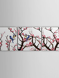 Stretched Canvas Print Art Landscape Charactizing A Fine Spring Set of 3