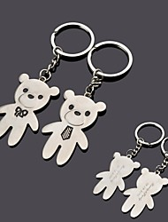 cheap -Personalized Engraving  Bear Metal Couple Keychain