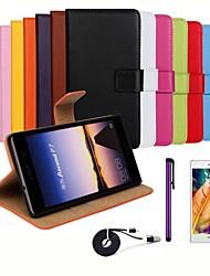 Per Custodia Huawei A portafoglio / Porta-carte di credito / Con supporto / Con chiusura magnetica Custodia Integrale Custodia Tinta unita