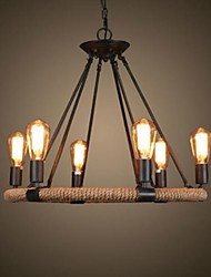 cheap -Rustic/Lodge Vintage Retro Country Traditional/Classic Candle Style Chandelier Ambient Light For Living Room Bedroom Dining Room Study