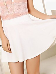 cheap -Women's Party/Cocktail Mini Skirts,Sexy A Line Solid All Seasons