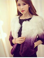baratos -Mulheres Casaco Elegante & Luxuoso-Estampa Colorida Estilo Moderno
