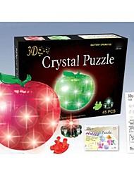 Недорогие -3d накануне яблоко кристалл DIY трехмерные головоломки рождественский подарок