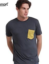 lesmart mænds mode rund hals kortærmet t-shirt