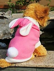 baratos -Gato Cachorro Camisola com Capuz Roupas para Cães Animal Vermelho Azul Rosa claro Lã Polar Ocasiões Especiais Para animais de estimação