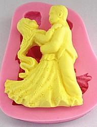 economico -danza fondente strumenti di decorazione della torta del silicone della muffa della torta, l7cm * w8.7cm * h1.6cm