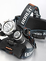 4mode Headlamps Bike Lights Headlight LED 5000 lm 4 Mode Cree XM-L T6 Impact Resistant Rechargeable Waterproof for Camping/Hiking/Caving
