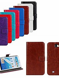 cheap -For Samsung Galaxy Note Card Holder / with Stand / Flip Case Full Body Case Solid Color PU Leather Samsung Note 2