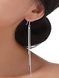cheap -Women's Sterling Silver Drop Earrings - Tassel Statement For Wedding
