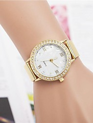 cheap -Women's Casual Watch Quartz Hot Sale Stainless Steel Band Sparkle Gold