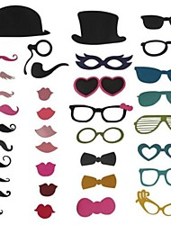 36 Piece Card Paper Photo Booth Props/Party Fun Favor Wedding