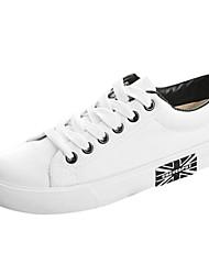 billige -Sneakers-Kanvas-Komfort / Rund tå-Drenge / Piger-Sort / Blå / HvidFlad hæl