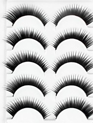 cheap -New 5 Pairs Natural Black Long Thick False Eyelashes Eyelash Eye Lashes for Eye Extensions