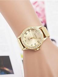 cheap -Women's Fashion Rhinestones Number Steel Belt Quartz Wrist Watch Cool Watches Unique Watches