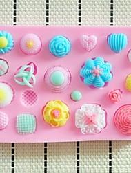 Недорогие -Кнопки помадной торт силиконовые формы торт украшение инструменты, l10.3cm * w7cm * h1cm
