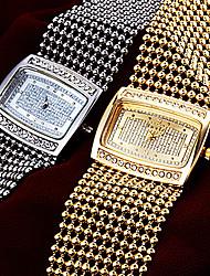 economico -Da donna Giapponese Quarzo Rame Banda classe Di lusso Argento Oro Oro Argento