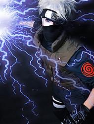 Недорогие -Наруто Hatake Kakashi Муж. 14 дюймовый Термостойкое волокно Серый Аниме Косплэй парики