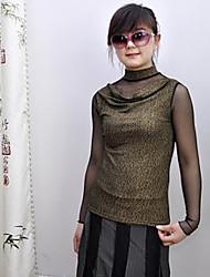 billige -Dame-Ensfarvet Vintage Bluse