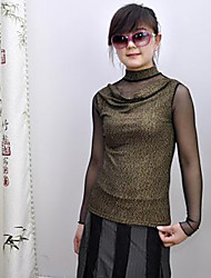 baratos -Mulheres Blusa Vintage Sólido