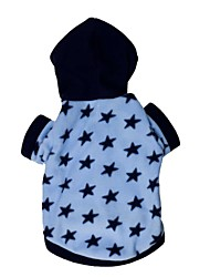 Cat Dog Hoodie Dog Clothes Stars Blue Costume For Pets