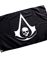 Cosplay Accessories Inspired by Assassin's Creed Cosplay Anime/ Video Games Cosplay Accessories Flag Black Woolen Male