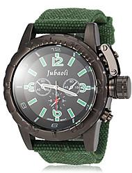 baratos -JUBAOLI Homens Relógio Militar / Relógio de Pulso Venda imperdível Tecido Banda Amuleto Preta / Vermelho / Verde