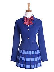 billige -Inspireret af Kærlighed Levende Honoka Kōsaka Anime Cosplay Kostumer Cosplay Kostumer / Kjoler Langærmet Frakke / Trøje / Nederdel Til Dame