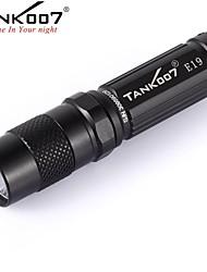 baratos -Tank007 E19   3-Mode Lanternas LED / Lanternas de Mão LED 180lm 3 Modo Iluminação Resistente ao Impacto / Superfície Antiderrapante /