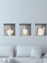 abordables -3D Stickers muraux Autocollants muraux 3D Autocollants muraux décoratifs, Vinyle Décoration d'intérieur Calque Mural Mur