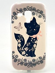 abordables -Coque Pour Samsung Galaxy Samsung Galaxy Coque Motif Coque Chat TPU pour Trend Duos