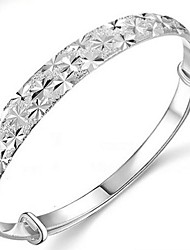 cheap -Ladies' Silver Round Bangles Wedding Party Elegant Feminine Style