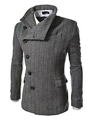 Недорогие -Оцените мужская лацкане шеи Slim Fit Куртка