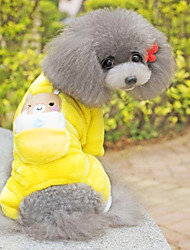 cheap -Dog Jumpsuit Pajamas Dog Clothes Cartoon Yellow Cotton Costume For Pets Men's Women's Cute Casual/Daily