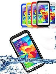 abordables -Coque Pour Samsung Galaxy Samsung Galaxy Coque Imperméable / Transparente Coque Intégrale Couleur Pleine PC pour S5 / S4 / S3